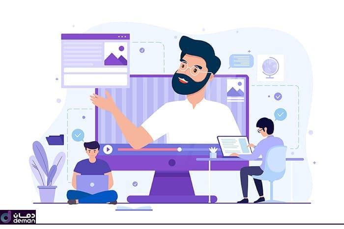 کلاس آنلاین نرم افزار مدیریت آموزشگاه دمان